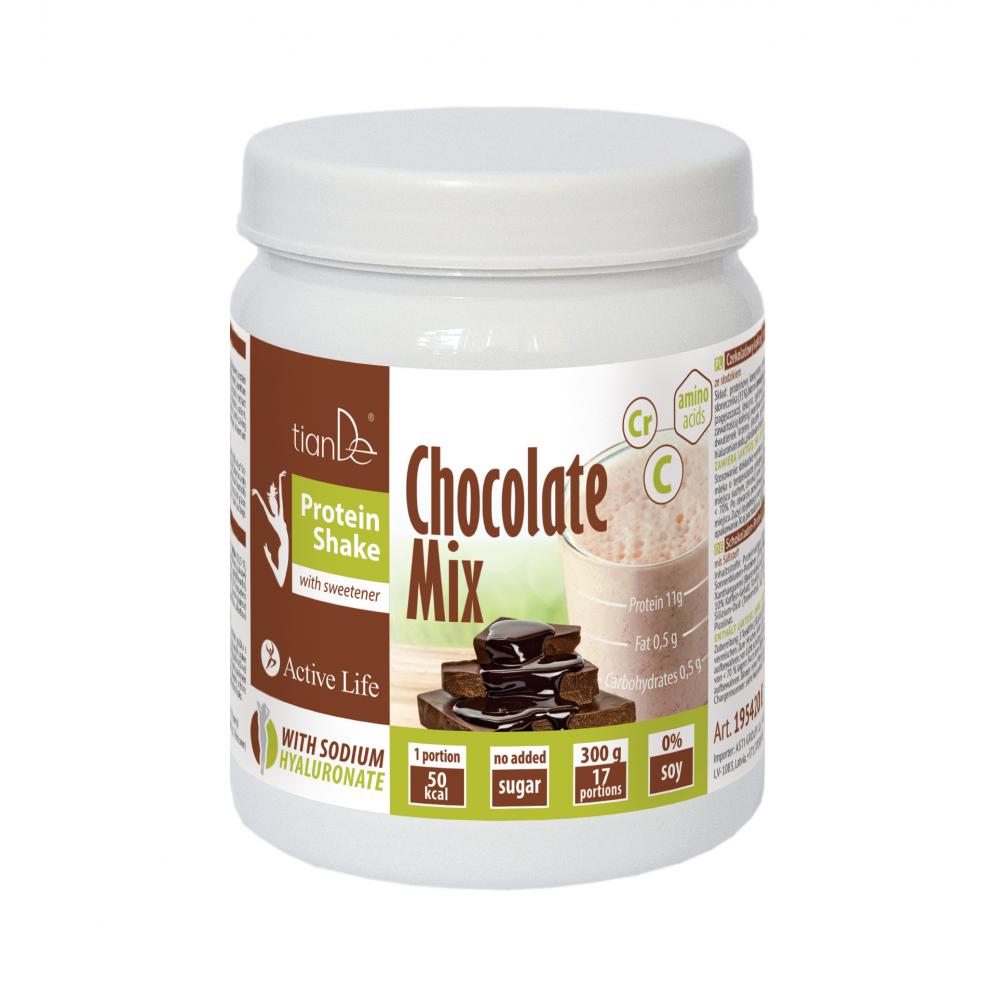 Čokoládový proteínový kokteil – mix so sladidlom