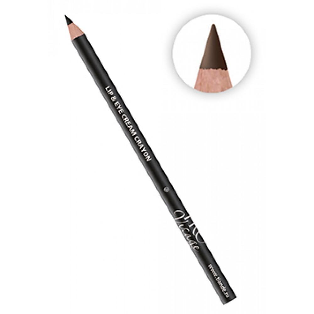 Kontúrovacia ceruzka na oči č.02 - tmavohnedá
