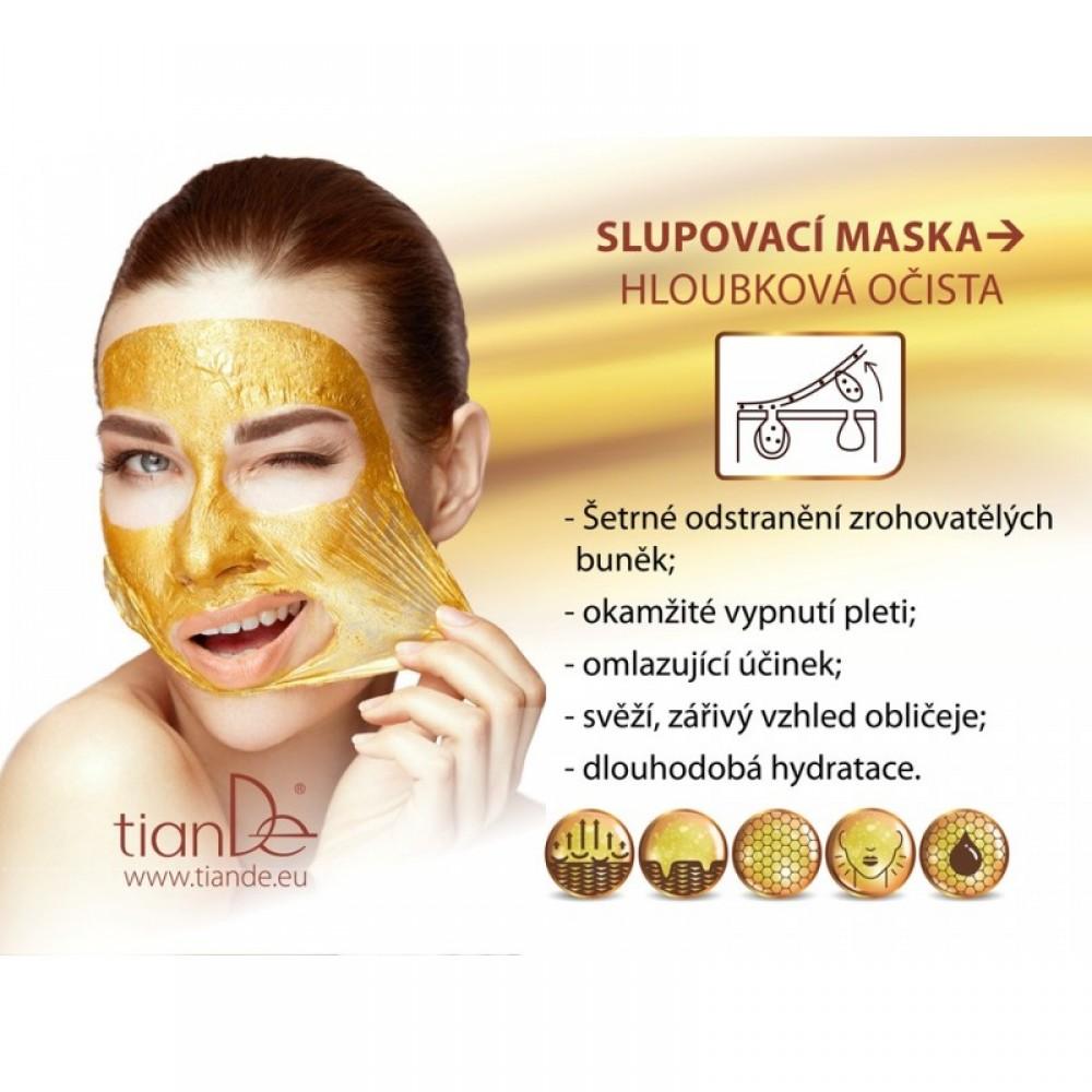 Čistiaca zlupovacia pleťová maska zlatá