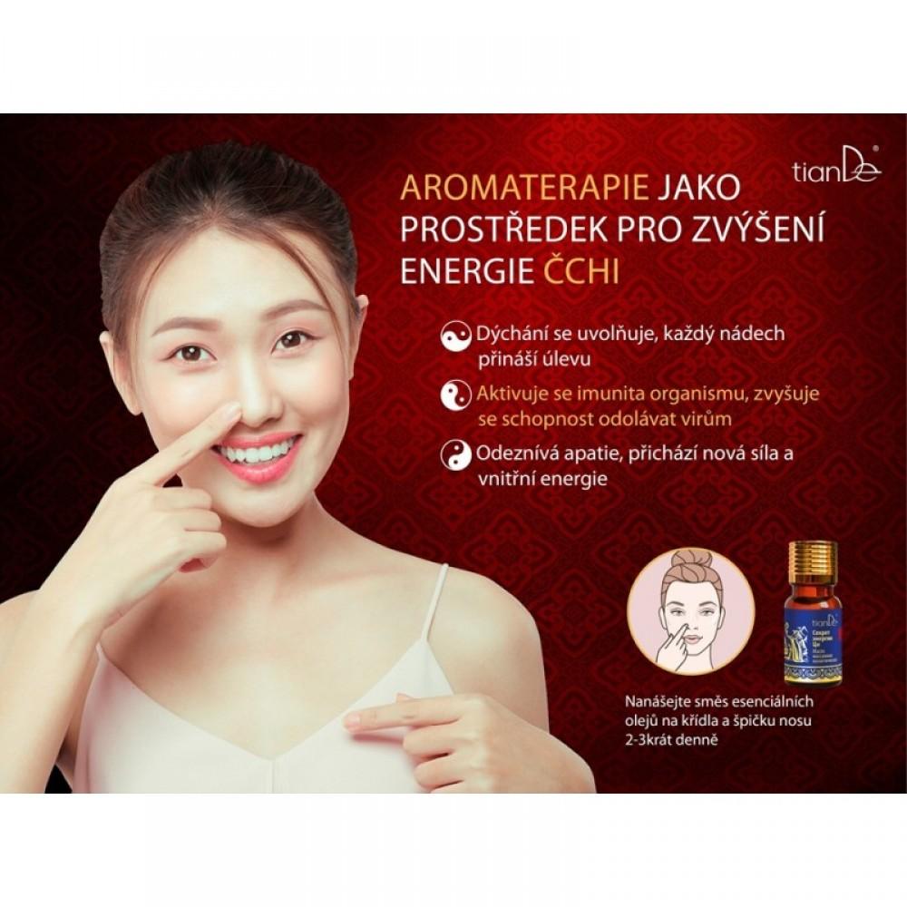Kozmetický masážny olej na voľné dýchanie
