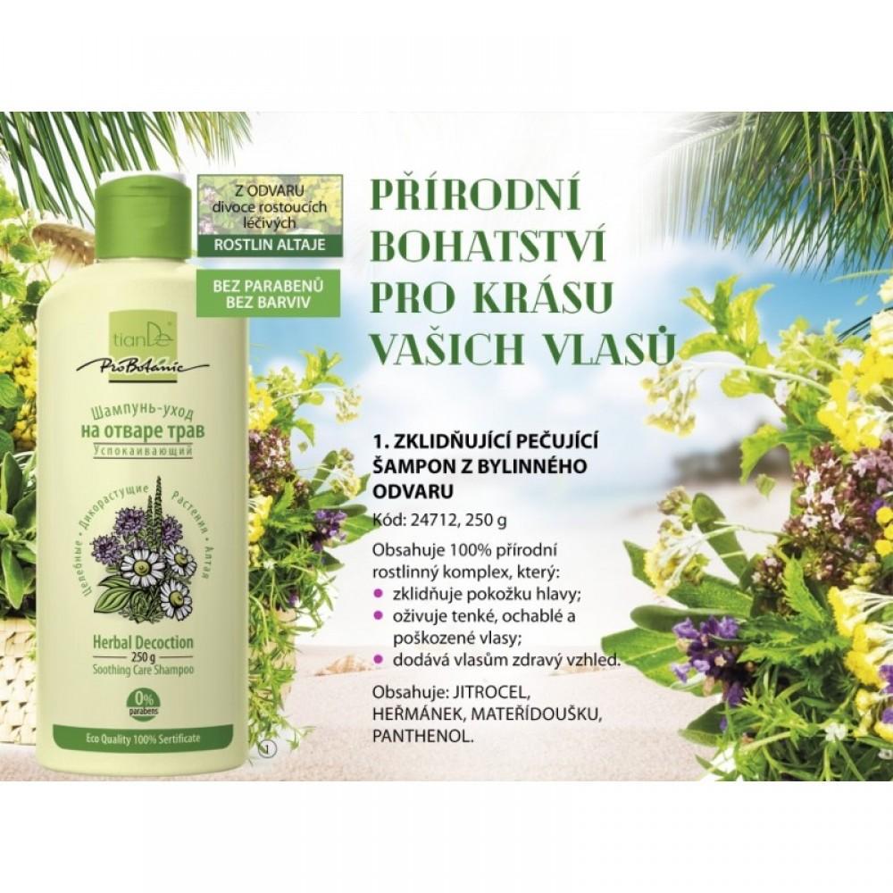 Ošetrujúci šampón z bylinného odvaru